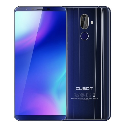 tomtop CUBOT X18 Plus MTK6750T 1.5GHz 8コア BLUE(ブルー)