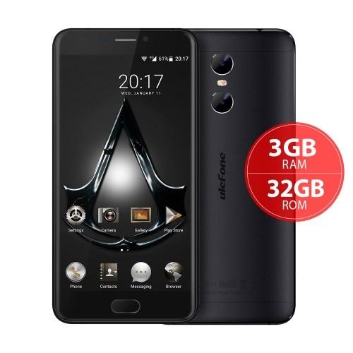 tomtop Ulefone Gemini MTK6737T 1.5GHz 4コア BLACK(ブラック)