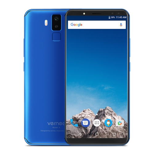 tomtop Vernee X MTK6763 Helio P23 2.0GHz 8コア BLUE(ブルー)