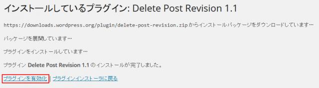 Delete-Post-Revision インストール完了