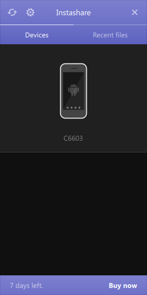 Instashare Android認識
