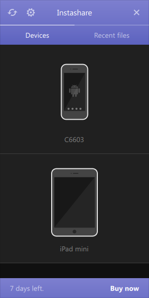 Instashare Android、iOS認識