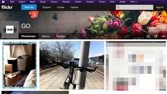 flickrの自分のページ