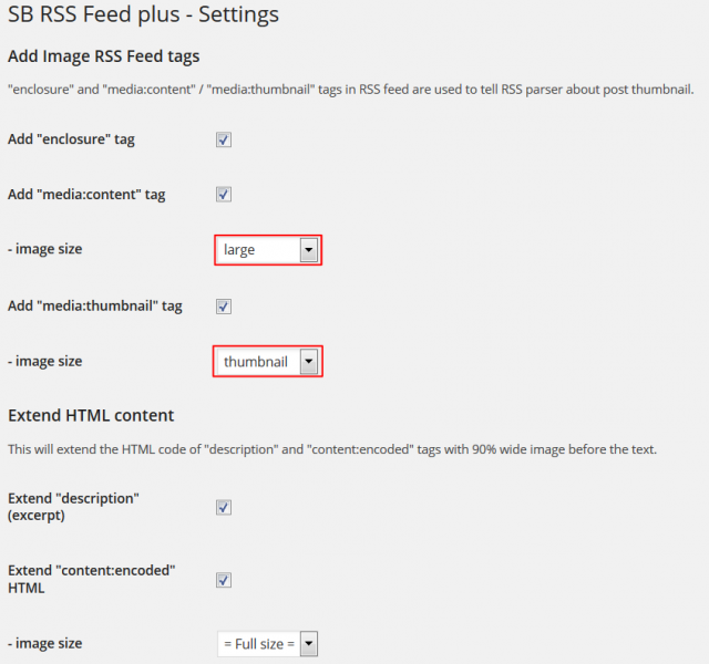 SB RSS feed plus 設定