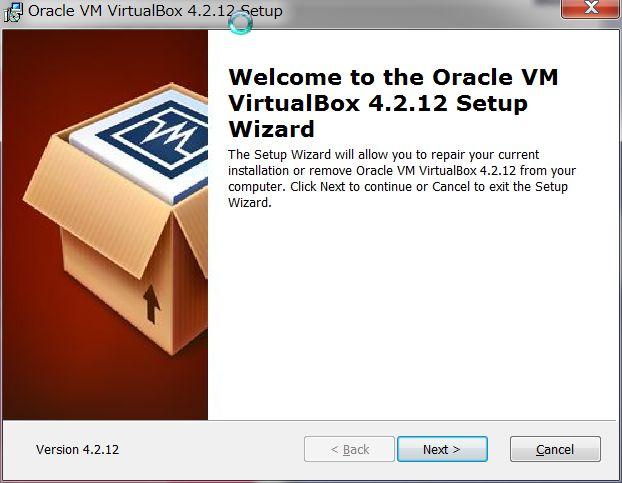 Genymotionのインストール VirtualBOXがインストール
