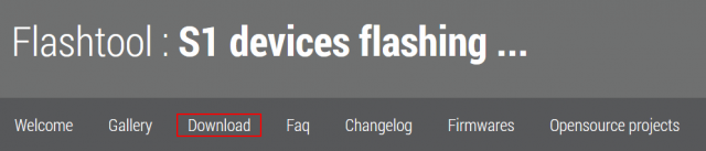 Flashtool : S1 devices flashing ...