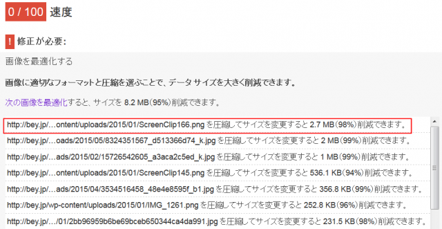 PageSpeed Insights 画像