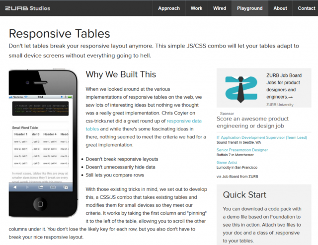 http://zurb.com/playground/responsive-tables