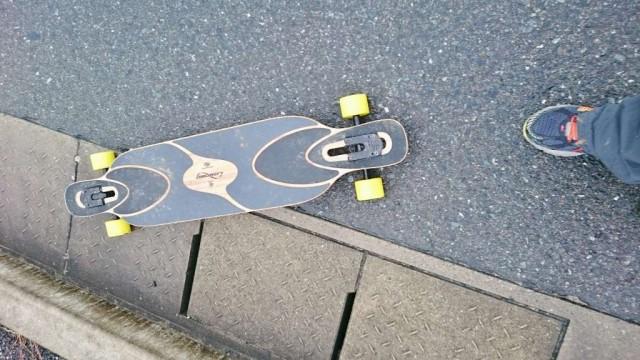 ロングスケートボード乗ってみる