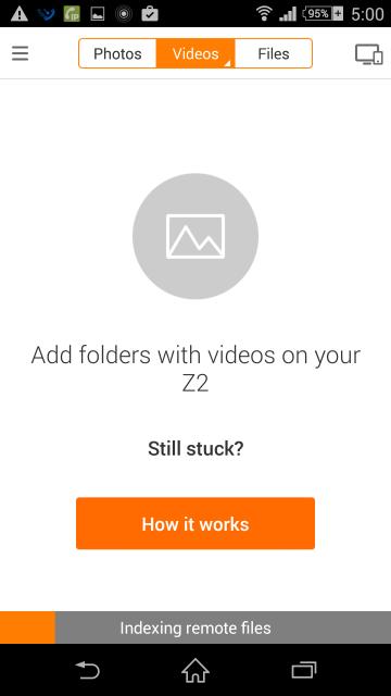 パソコンのVideosの画面 いつまでたってもインデックス完了しない