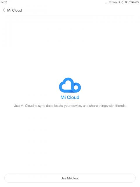 Mi Cloud使う