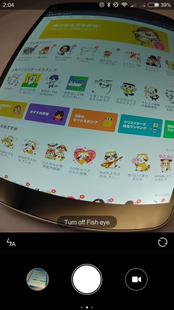 Fish eye:魚眼レンズ