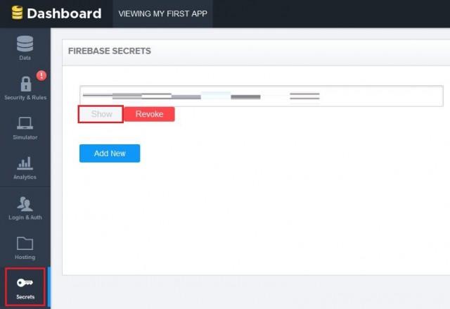 Secretsを選んでShowを押すとApp Tokenが表示されるのでこれをコピー