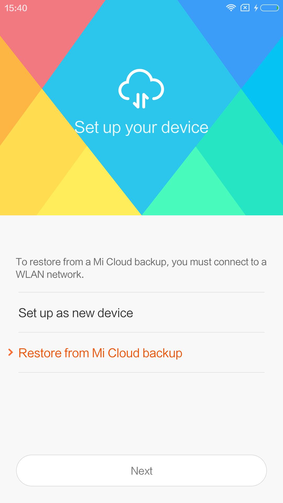 ここでRestero選択してしまったので、Mi5のアプリが全部流れてきた