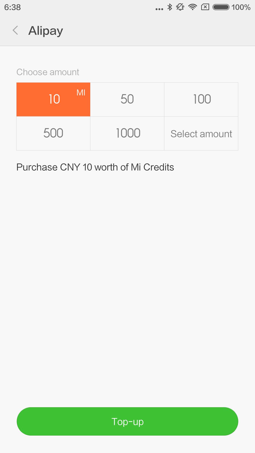 試しに10Mi Credits買ってみる