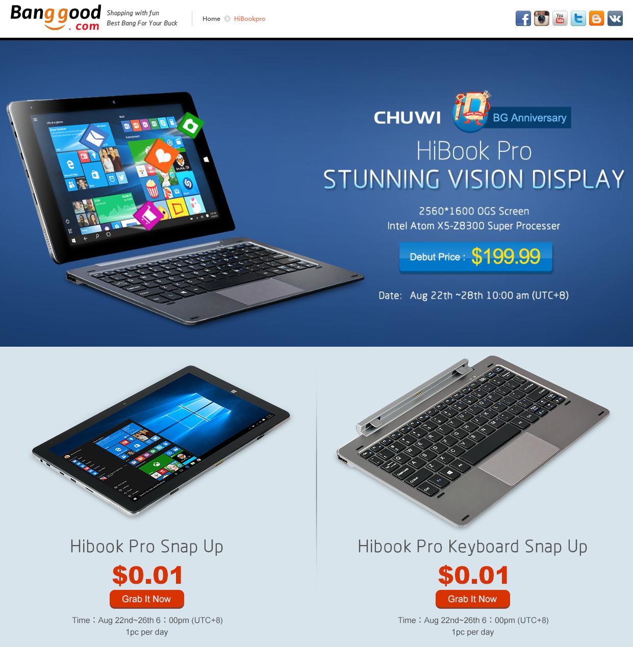 CHUWI HiBook Pro 開封 レビュー