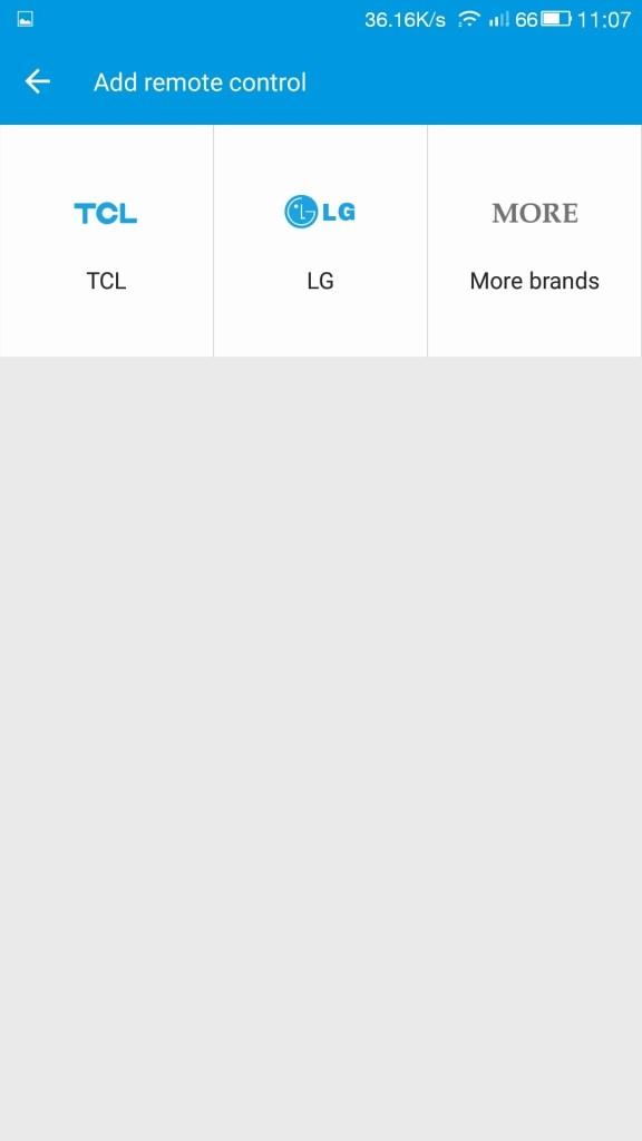 まずは代表的なメーカーだけ表示される、三菱はないのでMore Brandsを選ぶ