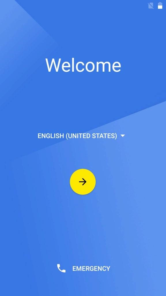 ENGLISHの部分をタップ