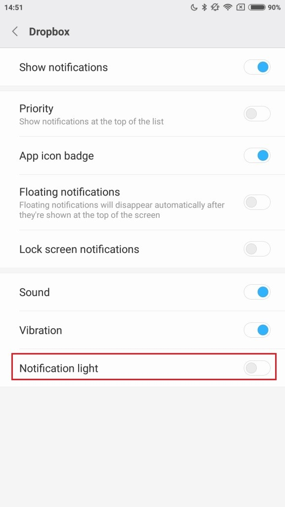 notification light
