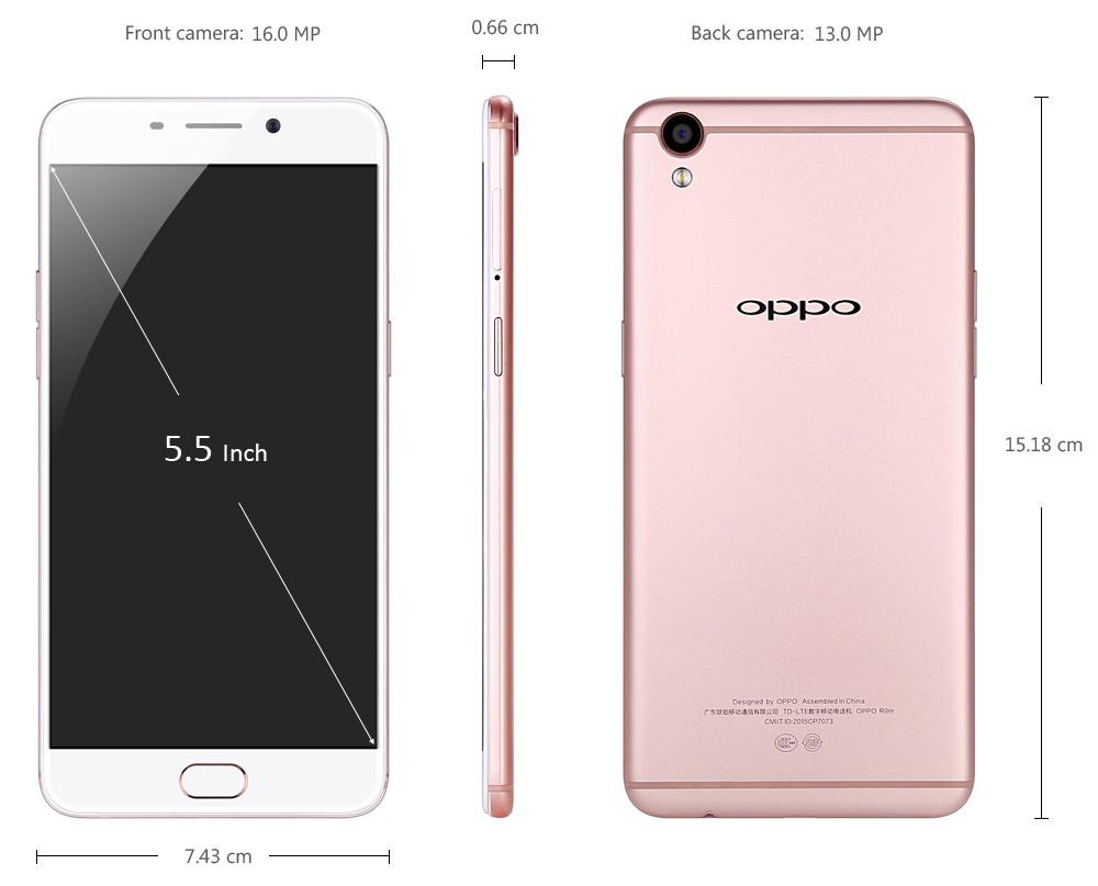 OPPO R9 size
