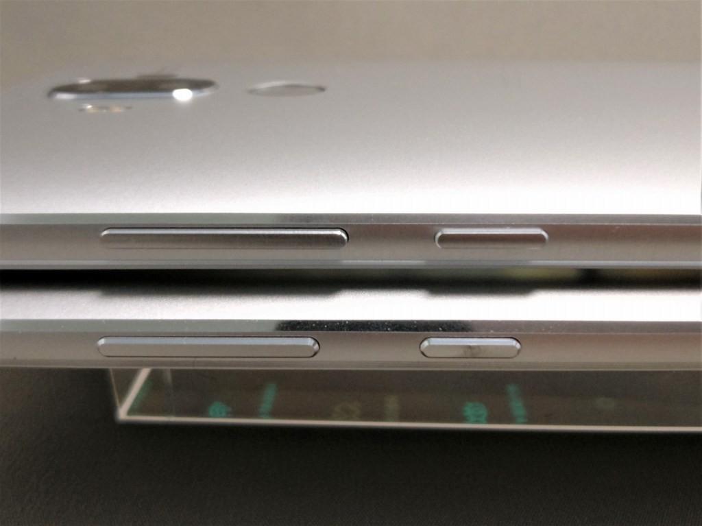 Huawei mate 9 と honor note 8 電源・ボリュームボタン