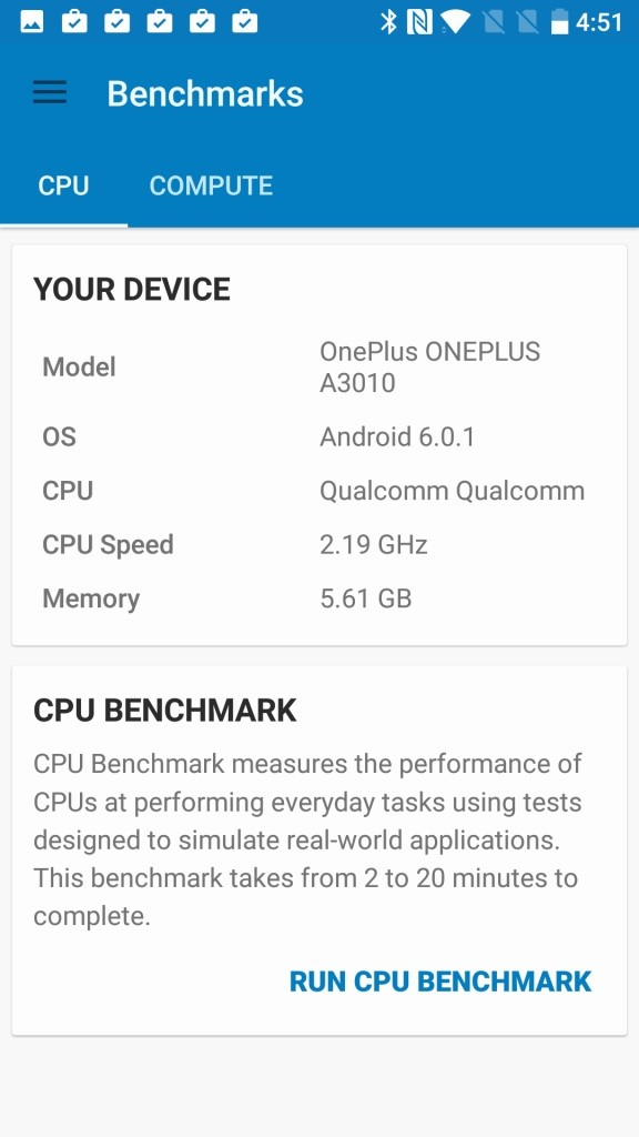 OnePlus 3T Geekbench Your Device