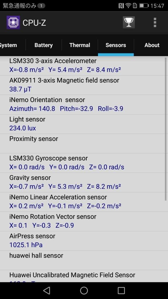 CPU-Z Sensers