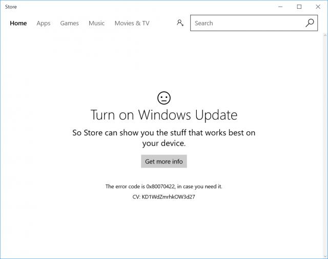 CUBE Mix Plus ストア Turn on Windows update