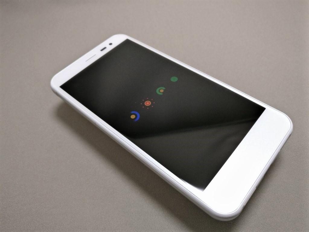 Sharp 507SH 起動 Androidのアイコンくるくる