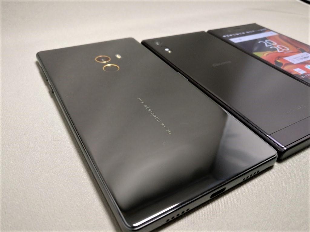 Xperia XZとXiaomi Mi MIX 3台 プレミアム感