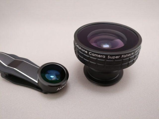 AUKEY 3in1 スマホレンズ PL-A3 15X 魚眼レンズ 巨大な魚眼レンズと比較
