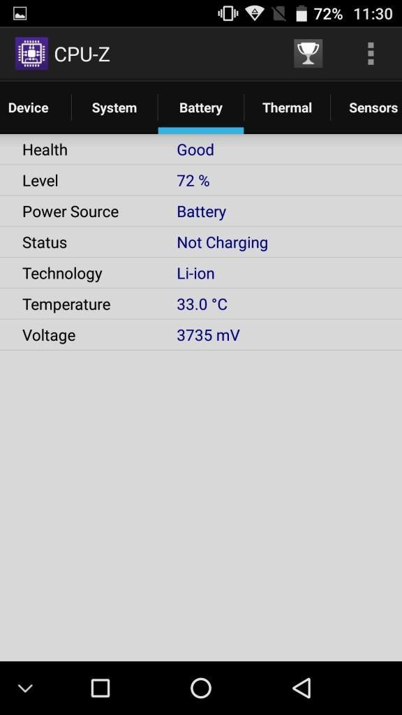 UMI Z CPU-Z Battery