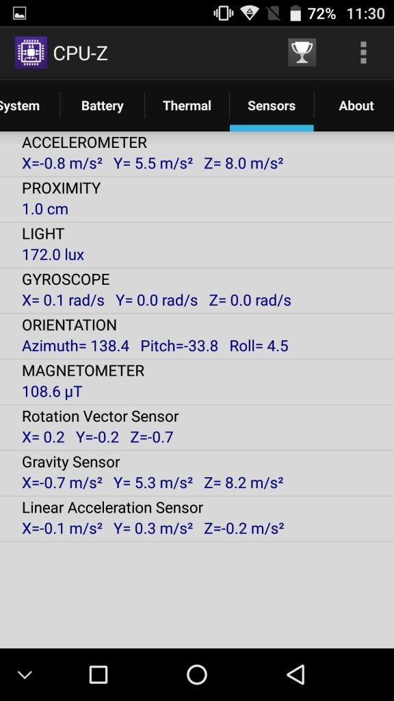 UMI Z CPU-Z Sensers