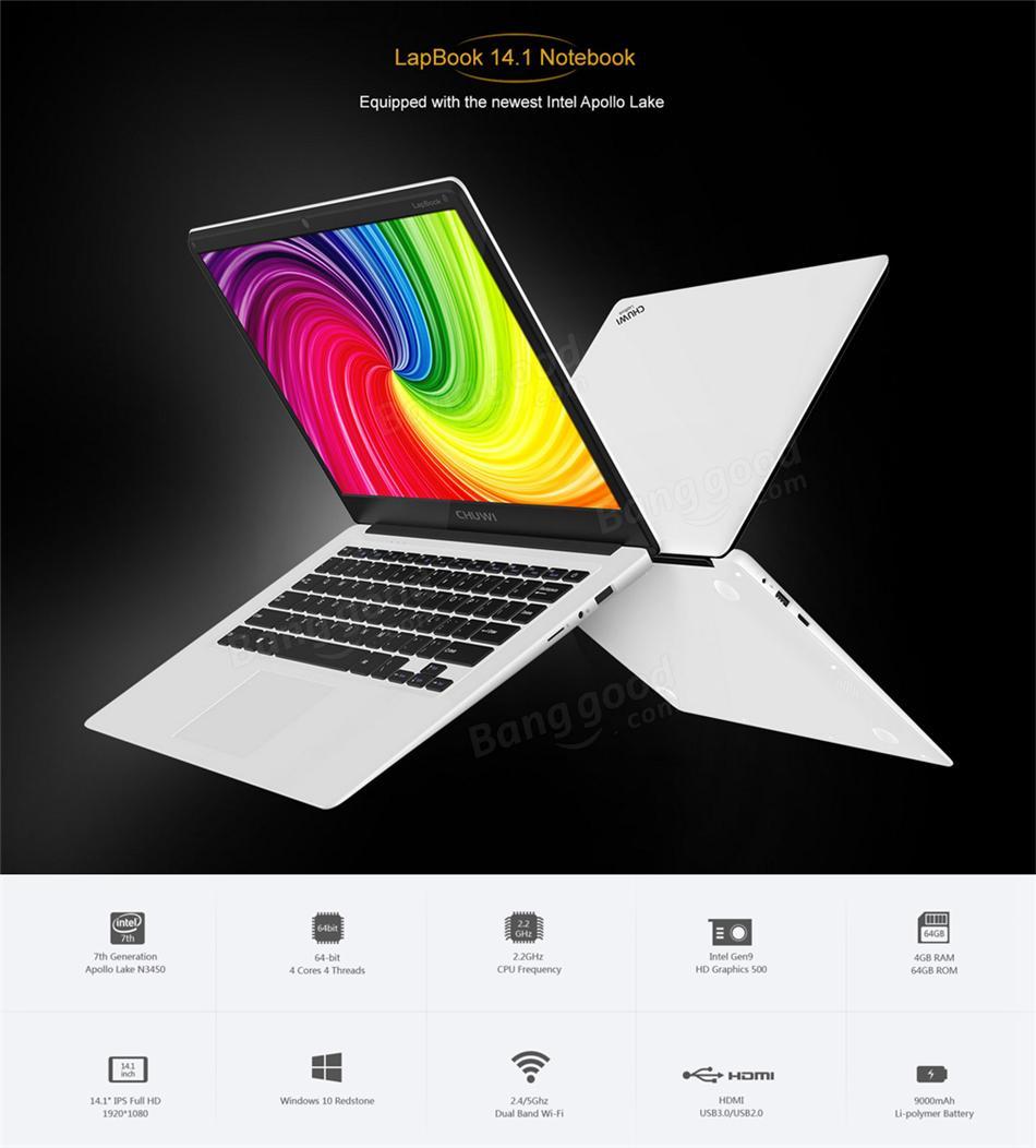 【Banggood】Chuwi Lapbook Notebook14.1 開封 レビュー ノングレア画面美麗・完成度激高で質実剛健ノートPC