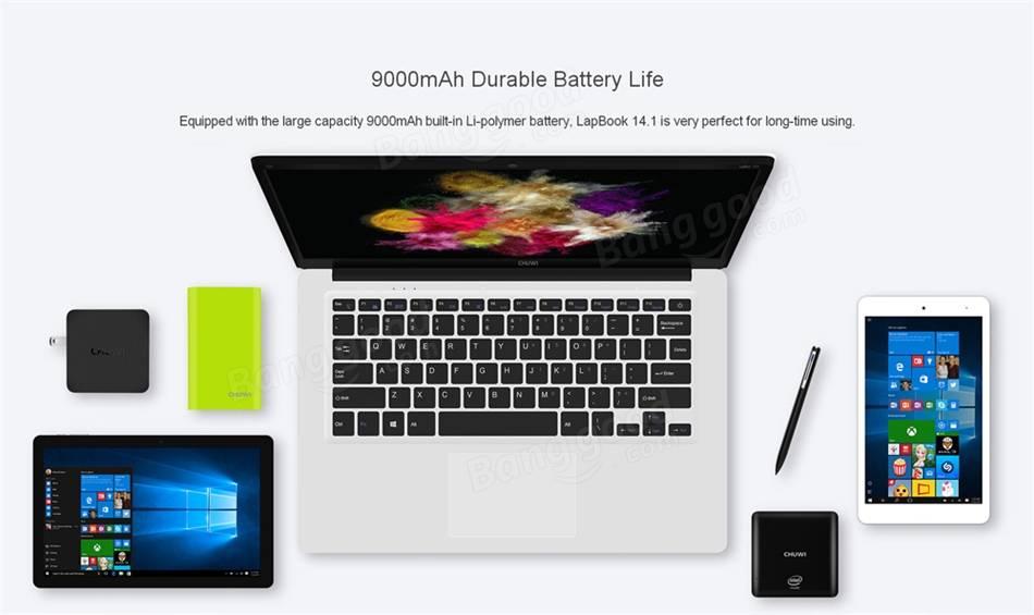 Chuwi Lapbook Notebook バッテリーは9000mAh