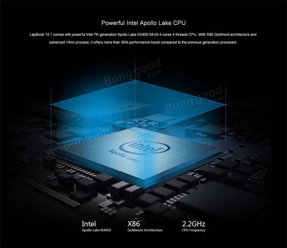 Chuwi Lapbook Notebook Apollo Lake CPU