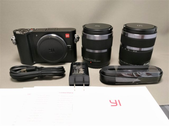 YI M1 WiFi 4K Digital Micro Single Camera  -  DUAL LENS 本体・レンズ・付属品