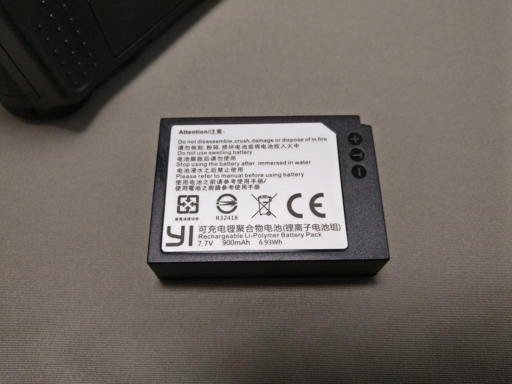 Xiaomi Yi Digital Camera M1 バッテリー表