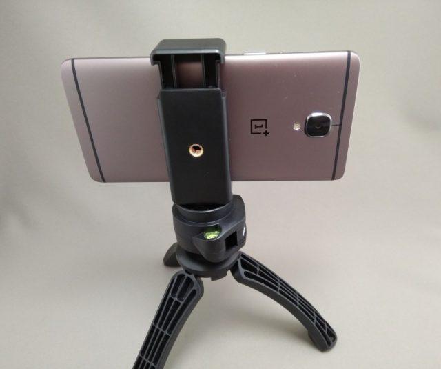 AUKEY ミニ三脚+スマートフォンホルダー CP-T01 スマホホルダーと三脚