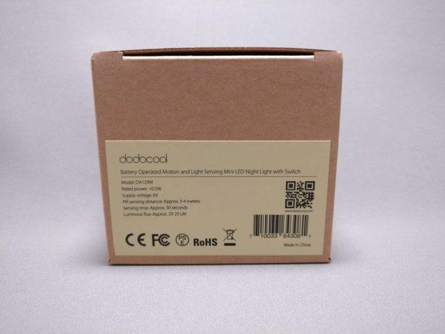 dodocool LEDナイトライト明暗&人感センサー 化粧箱