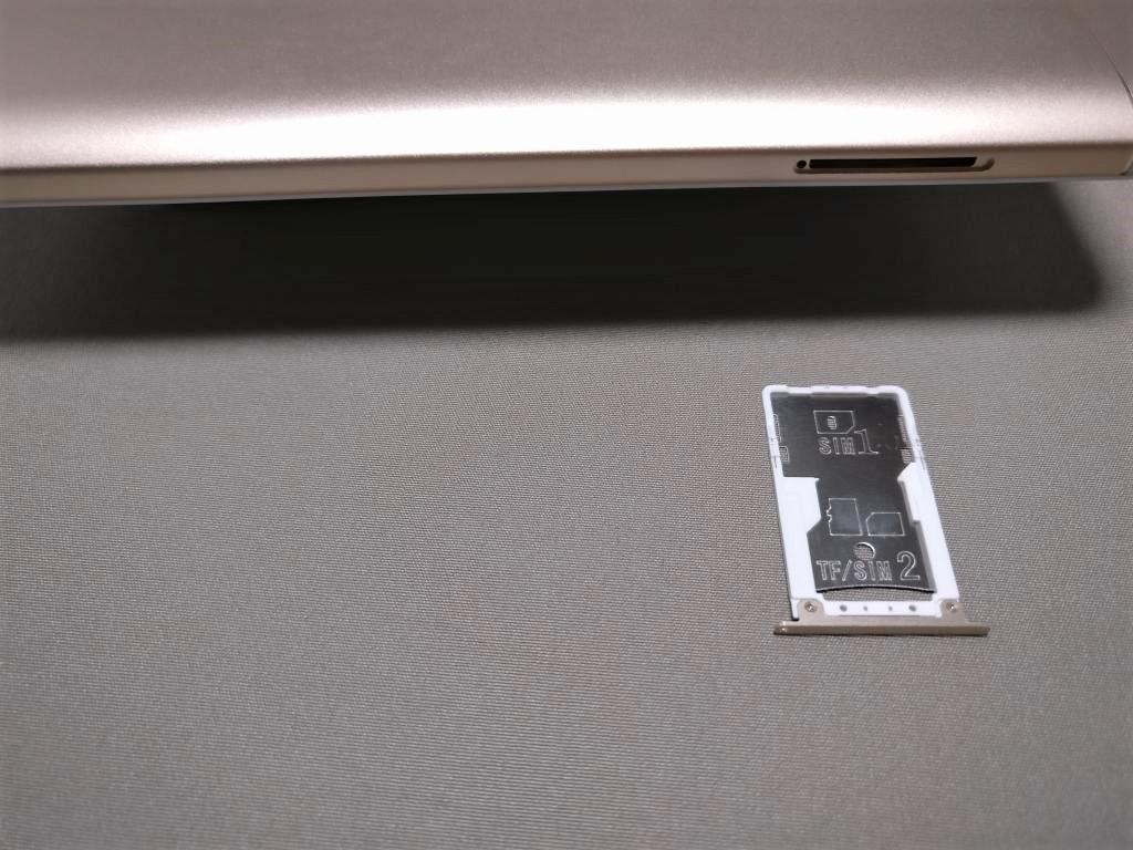 Xiaomi Redmi Note 4X SIMトレイ 出す