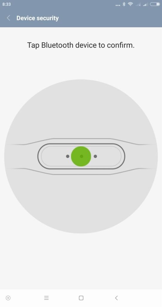 Xiaomi Mi MIX の Smart Lock設定 Mi Band2にペアリングのようにアイコンが表示されるタップする