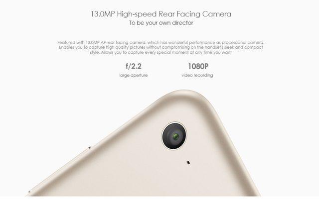 Xiaomi Mi Pad 3 リアカメラ f/2.2