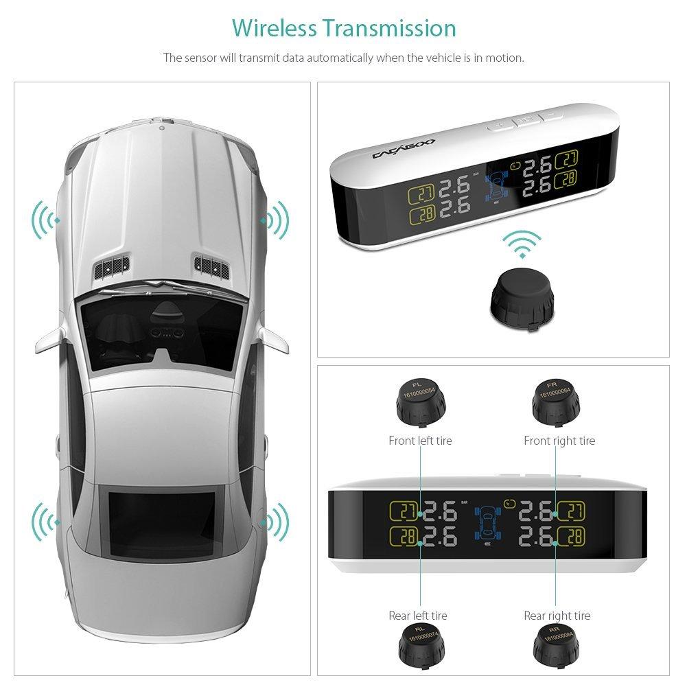 CACAGOO TPMS タイヤ空気圧監視システム ワイヤレス