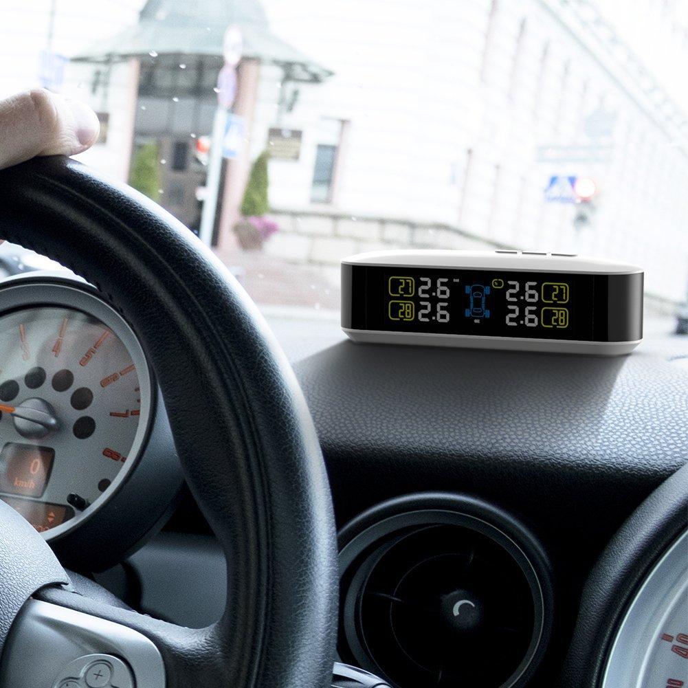 CACAGOO TPMS タイヤ空気圧監視システム 明るくても見やすいLCDモニター