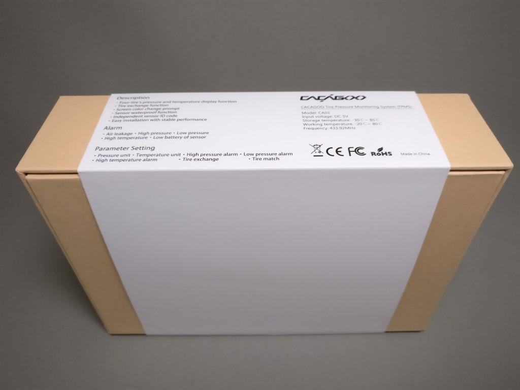 CACAGOO TPMS タイヤ空気圧監視システム 化粧箱裏