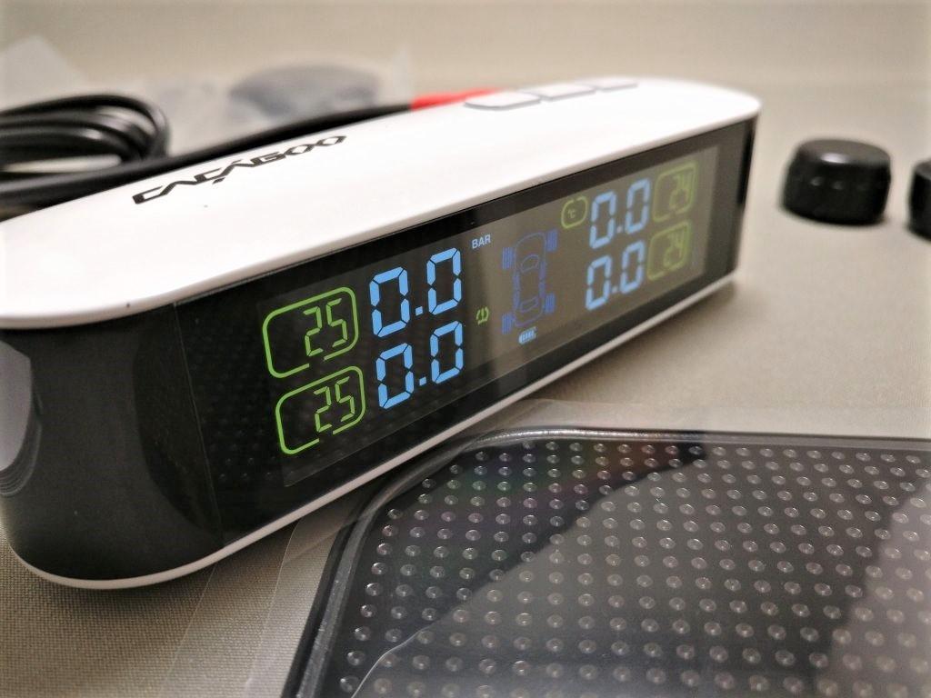 IMG_CACAGOO TPMS タイヤ空気圧監視システム LCDモニターななめ