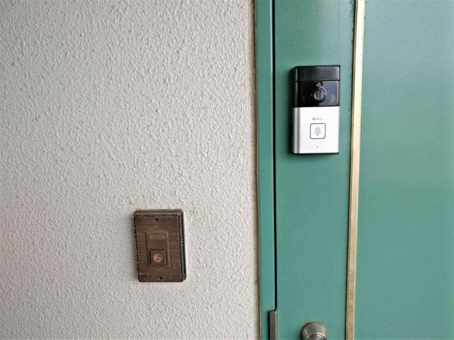 Digoo SB-XYZ ドアベル ドアに設置完了