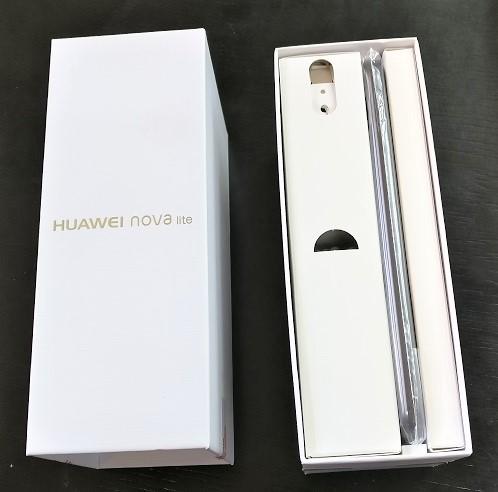 Huawei nova Lite 化粧箱 開ける