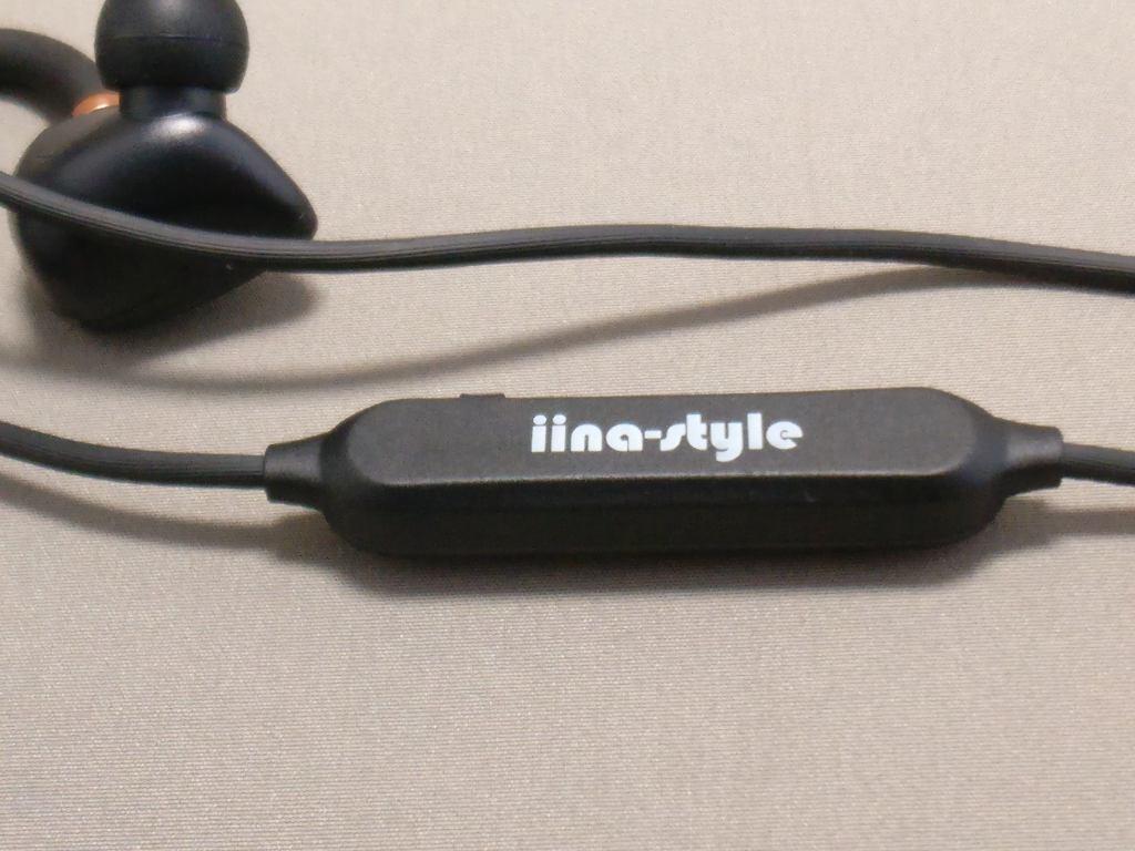 iina-style Bluetooth4.1CVD6.0 IPX7防水 イヤホン IS-BTEP04M コントローラー 裏